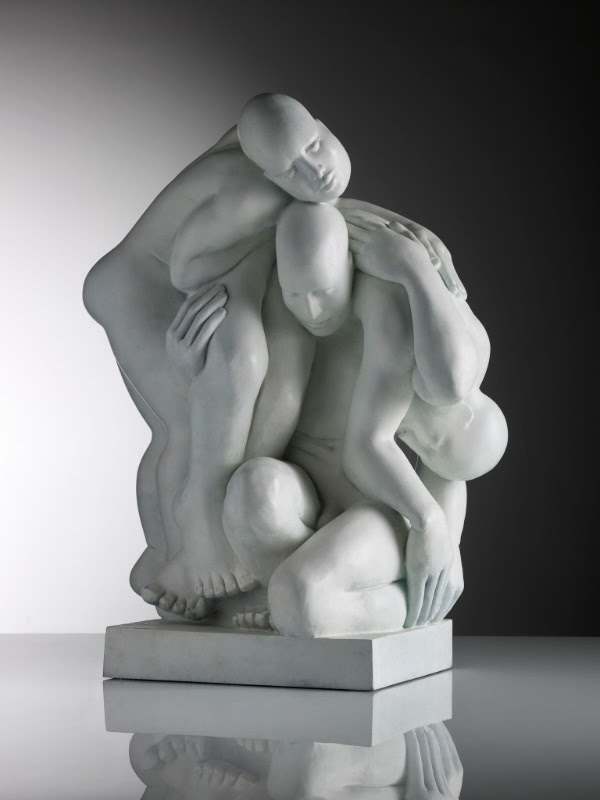 Unity bronze by Mel Fraser, contemporary stone sculpture