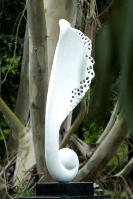 Angel Wing XXI, Carrara marble, by Mel Fraser