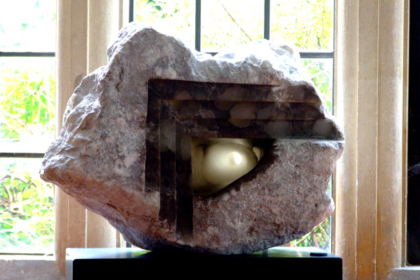Evolution by Mel Fraser, contemporary stone sculpture