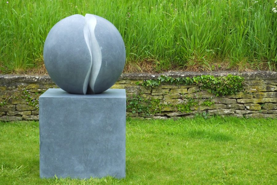 Fracture I, Kilkenny limestone, by Mel Fraser, contemporary stone sculpture