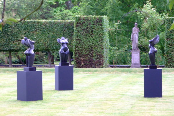 Three Graces by Mel Fraser, contemporary stone sculpture