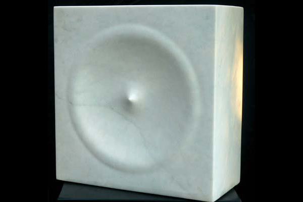 Void I, Carrara marble, by Mel Fraser, contemporary stone sculpture