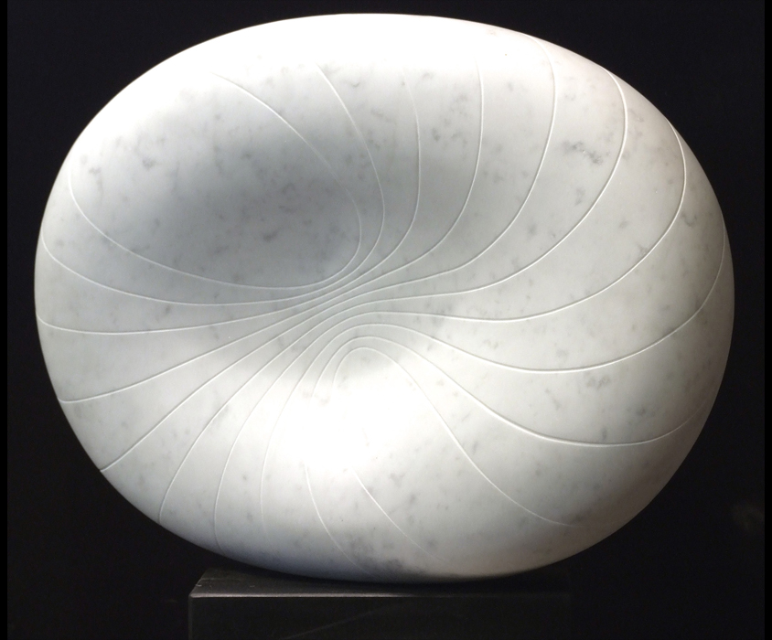 Nebula I, Carrara marble by Mel Fraser, contemporary stone sculpture