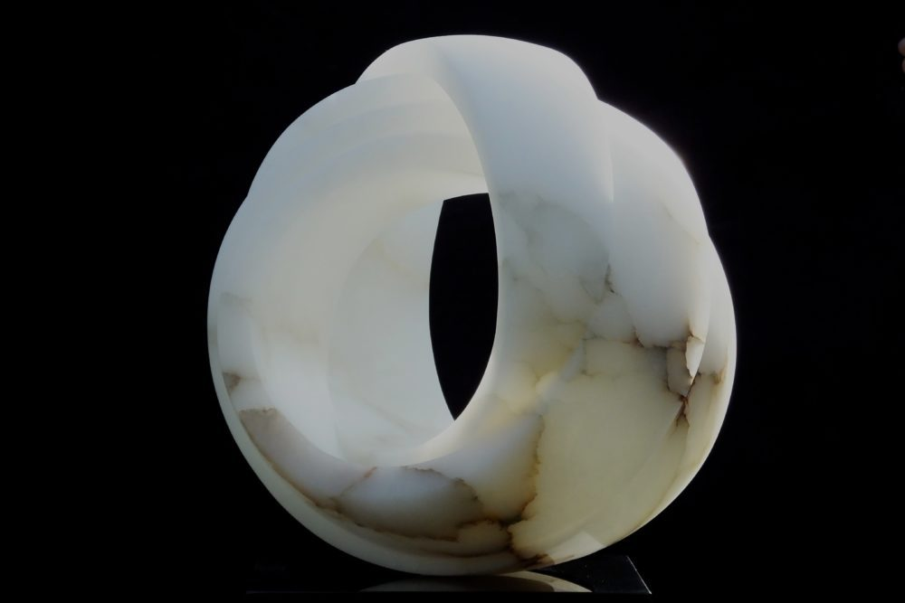 Eternity, white alabaster by Mel Fraser