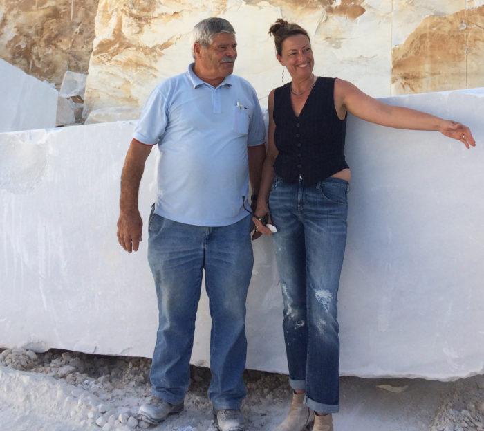 Mel and Barattini, Mel Fraser, contemporary stone sculpture