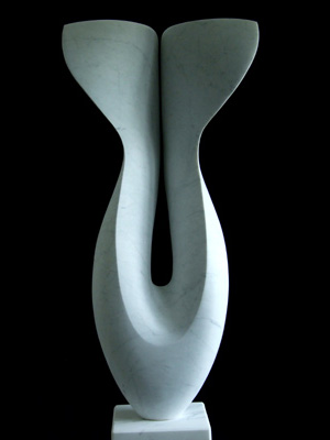 Grace, Carrara marble by Mel Fraser, contemporary stone sculpture