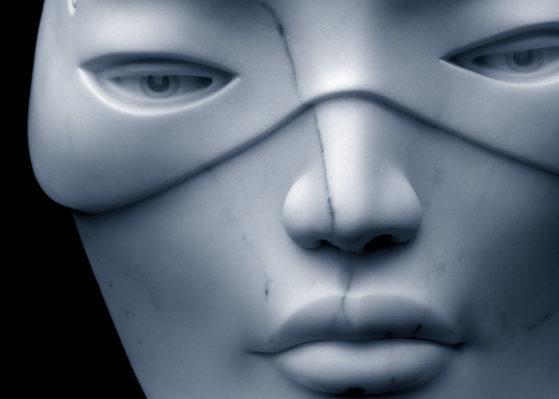 Masquerade I, Carrara marble