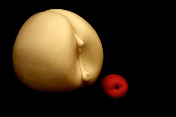 Peaches and Cream, Carrara marble by Mel Fraser