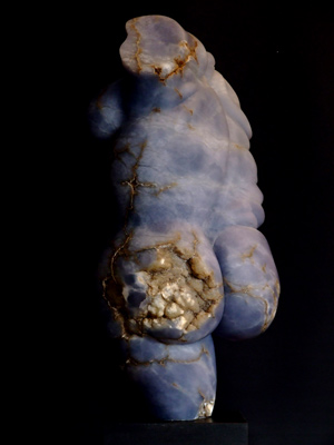Rubenesque Torso III, blue alabaster