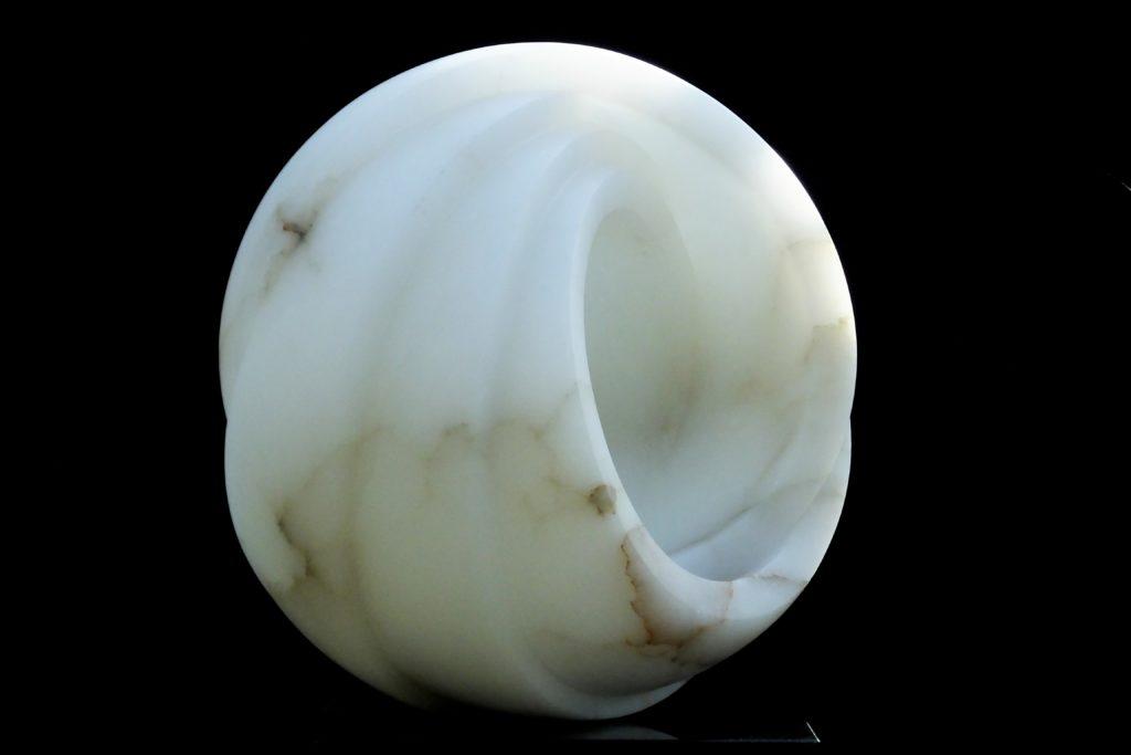 Eternity, white alabaster by Mel Fraser